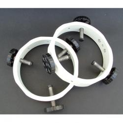 Abrazaderas colimables BP-1 (blancas)