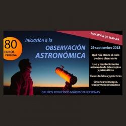 """Taller """"Iniciación Observación Astronómica"""""""