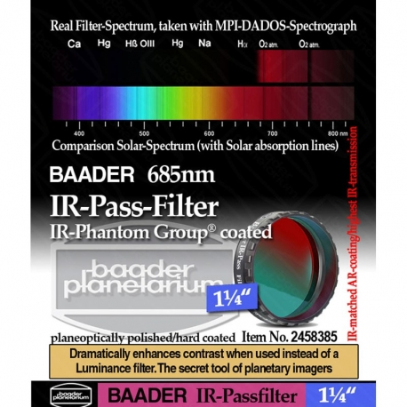 "Filtro IR Passfilter 1"" 1/4"