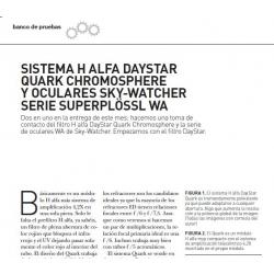 DayStar Quark Cromosphere y Skywatcher WA focales cortas