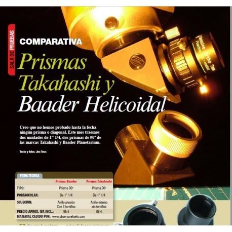 Prisma Baader y Diagonal Takahashi